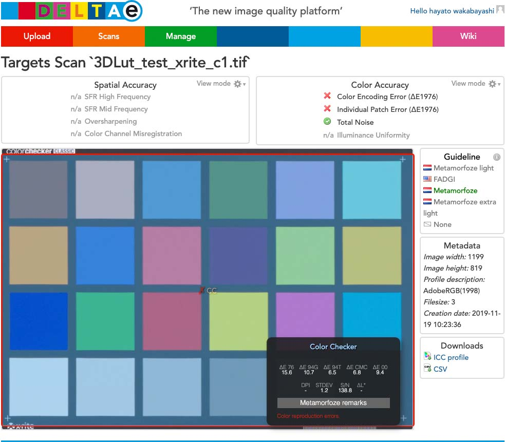 Capture One + xrite Color Checker icc